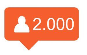 2000 Hoge kwaliteit Instagram volgers kopen