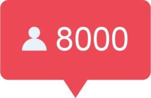 8000 Instagram volgers kopen