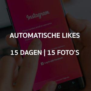 AUTOMATISCHE LIKES 15 DAGEN OP 15 FOTO'S