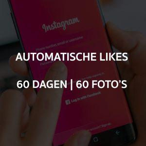 AUTOMATISCHE LIKES 60 DAGEN OP 60 FOTO'S