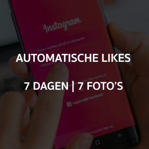 AUTOMATISCHE LIKES 7 DAGEN OP 7 FOTO'S
