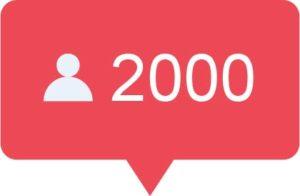2000 Instagram volgers kopen